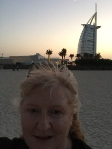 Sun setting over Burj al Arab and Jumeirah Beach - image112-e1448517679267-225x300